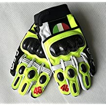 Guantes de piel y cordura con protecciones Robuste AGVSport Evo Motorcycle Gloves For Men VR46Black–Red–Yellow L amarillo