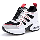 AONEGOLD Womens Wedges Trainers Gym Fitness Walking Sports Sneakers Comfortable Lace Up Platform Shoes