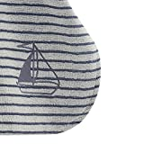 Living Crafts Baby-Bade-Poncho Natural/Infinity Blue, 8098