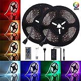 10M Tira LED RGB con Chip SMD 5050, ENES Flexible Multicolor 300 LEDs Strip Tiras LED de Luces LED Kit Completo para Hogar, Restaurante, Cocina, Porche, Oficina, Dormitorio (12V, Incluyendo Adaptador)