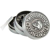 Bulldog Amsterdam Grinder  50mm  Spezie Erbe Grinder in 3 Pezzi Tritino in Metallo   Argento