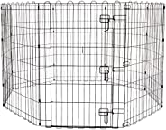 AmazonBasics Foldable Metal Pet Exercise and Playpen with Door, 36&