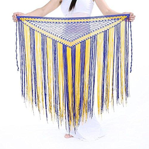 Dance Tribal Verkauf Kostüm Für - Wgwioo Dance accessories Dame Bauchtanz kostüm hip schal gürtel tribal quaste schals wrap gürtel Taille Kette Rock 11 one Size