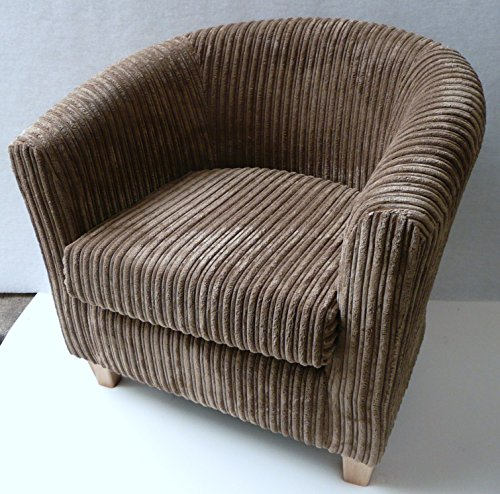 Luxury traditional shape Tub chair in Camel jumbo cord..If you see any other fabric you like in my other items including jumbo cords..faux leather and chenilles please ask as we can make this chair in most fabrics.)