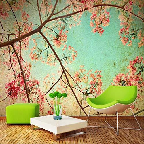 Sucsaistat 3D Effekt Moderne Mode Fototapete Wohnzimmer Schlafzimmer Desktops Wandbild Europäische Romantische Blume Tapete, 400 * 280 cm