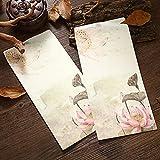Jia HU 24Retro Chinesische Tinte Buchstabe Briefumschläge Grußkarte Einladung Geschenk Set für Segen #1