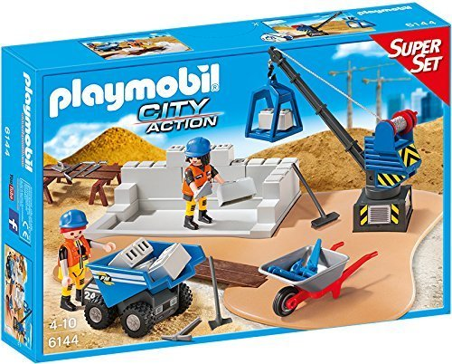PLAYMOBIL 6144 City Action - Super Set Construction by Playmobil