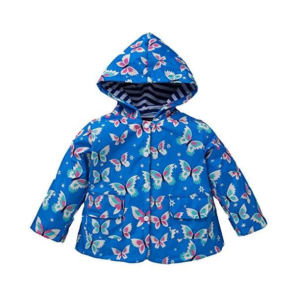 YBWEN Impermeable de los niños Modelo de Mariposa Impermeable de los niños a Prueba de Viento Lluvia Chaqueta… 1