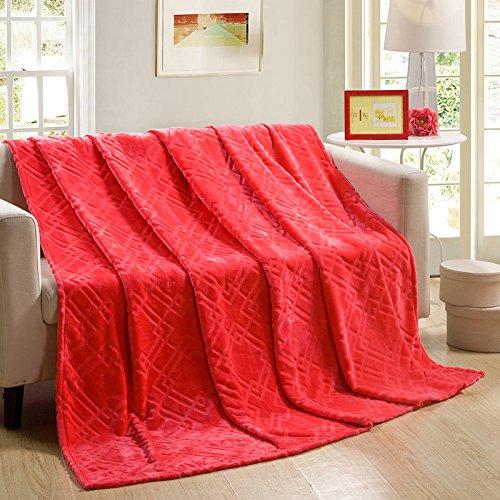 BDUK Im Sommer Kühl- und Klimaanlagen und Solid Gold Tiao-Fleece Decke Twin Single Decken B, 150*200cm