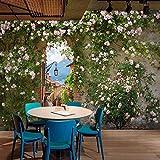 YUANLINGWEI 3D Für Wohnzimmer Tv Hintergrundwand Wand Home Wand Dekor Rose Floral Tapeten,170cm (H) X 250cm (W)