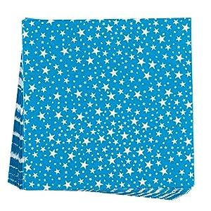 Neviti 678030Carnaval-Servilletas, diseño de estrellas, color azul