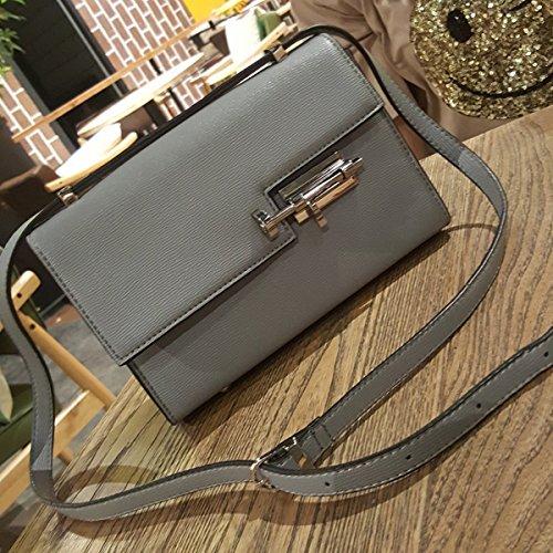 fashion Flow Lock kleine quadratische tasche Schulter diagonale Weibliche paket Grau