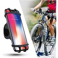 ZOESON Support Téléphone Vélo, Support Vélo du Guidon, Support Téléphone Bicyclette Silicone Réglable pour Les 4,0-6,0…
