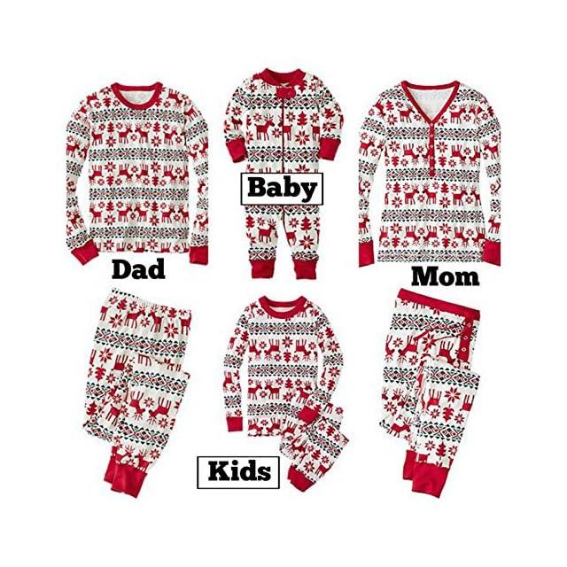 e788e90f1c586 Pyjamas de Noel Famille Garçon Fille du Nouveau-né Bébé Pyjamas à Deux  Pièces Set ...