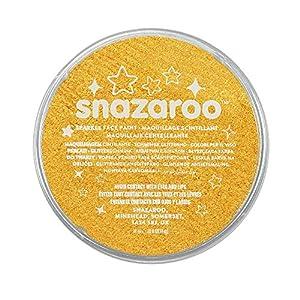 Snazaroo - Pintura facial y corporal, 18 ml, color amarillo centelleante