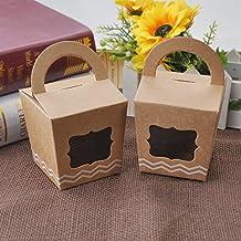 GEEDIAR® 12pcs DIY Dulces Caja Cartón Kraft Con Una Pequeña Ventana de Caramelos para Regalo de Boda / Partido / la Decoración de la Navidad
