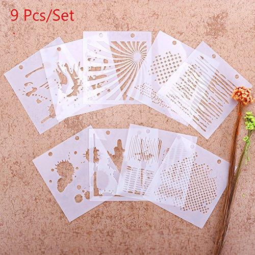 zhuotop Schminkpinsel-Set Zeichnen Airbrush Malen Schablone DIY Craft Album Scrapbooking Ornaments