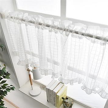 Cf® Eleganter Spitze-Vorhang-Schrank-Kaffee-Halber Vorhang