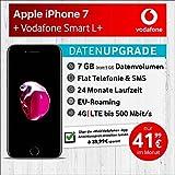 Apple iPhone 7 (Schwarz) mit 32 GB internem Speicher, Vodafone Smart L+ inkl. 7GB Highspeed Volumen mit Max 500 Mbits, inkl. Telefonie- und SMS Flat, EU-Roaming, 24 Monate Min. Laufzeit, mtl. € 41,99