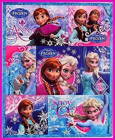 Planche de 16 Stickers Brillants La Reine Des Neiges Frozen Disney Fille Créatif Déco - Model Aléatoire - (1 Pochette = 2 Planches De Stickers)