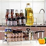 Kitchen storage rack.L Lying Küchenregal Gewürzregal 2 Schichten Regal Regal Sauce Flasche Sauce Regal Regal -Verwendet, um die Küche aufzuräumen (größe : A)