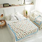 Comaie® Kids Kinder-Bettwäsche-Set mit Bettlaken mit Bettdecken-Baby Play Mat mit sanft und gepolsterter ideal als Decke Spielmatte gepolstert Neugeborene Decke Duschtuch Wäsche