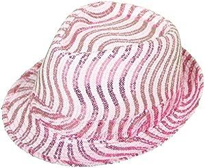 Folat 871457222538022538de tribly Gorro de fiesta Deluxe de con lentejuelas de One Size, unisex de adulto, color rosa/blanco, talla única
