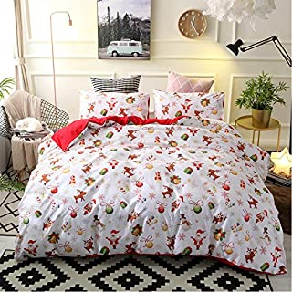 Christmas Duvet Cover Set - Decorative 3 Piece December Print Christmas Bedding Sheet - Wrinkle, Fade, Stain Resistant Ultra-Soft Lightweight Microfiber Bedspreads (Childhood Christmas, Double)
