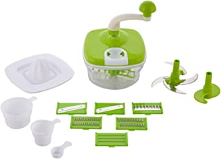 MB LIFESTYLE Plastic Manual Atta Kneader with Food Processor (Green, Atta1)