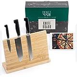 Bloc à couteaux magnétique Dolce Mare avec aimant extra puissant - Planche à couteaux XXL pour vos couteaux de cuisine ou cou
