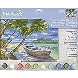 Reeves Tropischer Strand Malen nach Zahlen, Malpappe, Mehrfarbig