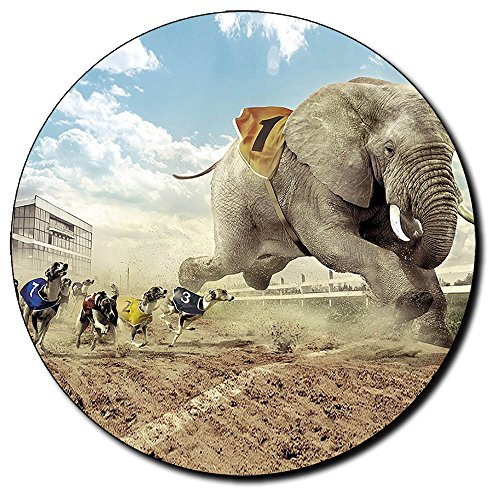 carrera-de-perros-y-elefante-dogs-elephant-races-round-mousepad-pc