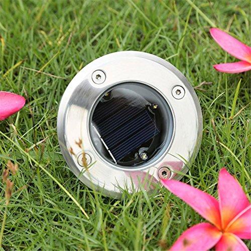 HomJo Solar LED Garden Spotlight Solar Untergrundlicht LED Outdoor Wasserdichte Rasen Licht Runde Buried Licht Eingebettet Square Spotlight