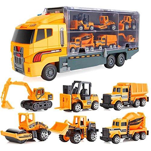 lzndeal 6pcs/7PCS Coche Niños Tractor Regalo Juguete...