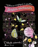 Jardins enchantés - 12 tabeaux détachables à gratter, inclus le crayon biface en bois de Mia Steingräber