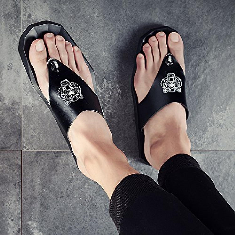 @Sandals Flip Flops Herren Sommer Rutschfeste Outdoor Clip Schuhe  Koreanische Hausschuhe  Fashion Casual Mode