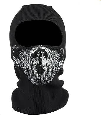 Fortag Unterschiedliche Sturmhaube Geister Schädel Maske Gesichtshaube Balaclava Windmaske Skimaske Motorradmaske Für Herren Damen Outdoor Sports Motorrad Ski Snowboard Ghost Skull Maske Modell 6 Bekleidung