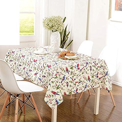 Table Basse En Table De Table En Tissu,Cotton Garden Country Village Toile De Table-A 140x140cm(55x55inch)