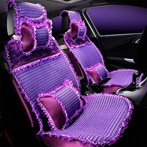 Vigko coprisedili universali per auto, fiori gonna in pizzo cuscino per seggiolino auto per donna, purple