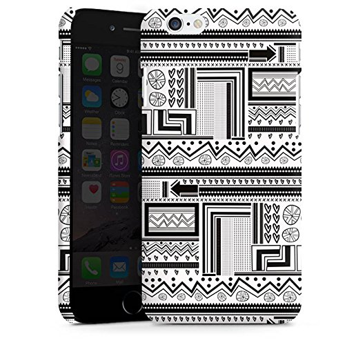 Apple iPhone X Silikon Hülle Case Schutzhülle Ethnostyle Abstrakt Muster Premium Case matt