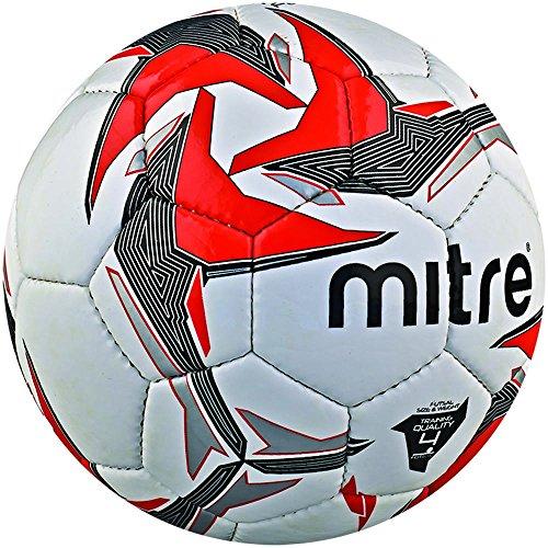 Mitre - tempest futsal, pallone da calcio, misura 4, colore: bianco/rosso/nero