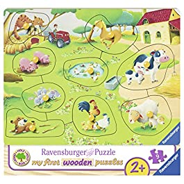 Ravensburger Italy- My First Wooden Puzzle Piccola Fattoria, 03683