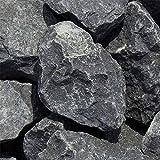 zierkiesundsplitt Basalt Gabionensteine Bruchsteine 1000kg Big Bag 50-80mm