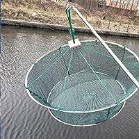 joyliveCY Redes de Pesca Red de Pesca Plegable portátil fundición Peces camarón colector de cigalas Redes 1M Alturas: 40cm