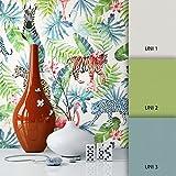 NEWROOM Blumentapete Tapete Grün Blumen Blätter Floral Vliestapete Vlies moderne Design Optik Modern inkl. Tapezier Ratgeber