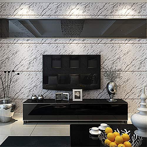 yhyxll Imitation Marmorfliesen Tapete einfache 3D Stereo Video Wand Schlafzimmer Wohnzimmer TV Hintergrund Tapete 2
