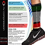 NV-Compression-365-fasce-di-compressione-per-polpacci-Nero-Calf-GuardsSleeve-Socks-PAIR-20-30mmHg-For-Sports-Recovery-Work-Flight-Running-Cycling-Soccer-Rugby-Fitness-Gym-Golf-Tennis-Triathlon