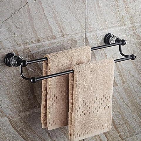LD&P Europäische Handtuchhalter An der Wand montiert Doppelte Hebel Handtuchhalter Bad Hardware Anhänger Handtuch bar (Nickel Poliert Kabinett Hardware)