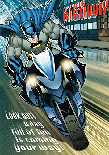 Batman Geburtstagskarte für jedes Alter von Stempel