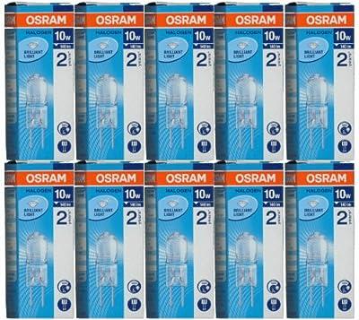 10 Stück Osram Halostar 64415 Halogen-Stiftsockellampe G4 12Volt 10Watt von Osram bei Lampenhans.de